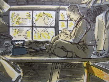 From Life In An English Village:  by Edward Bawden